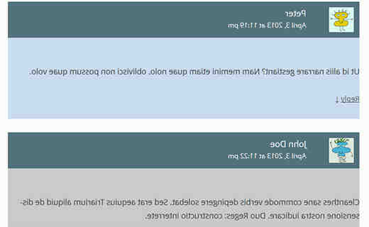 Wordpress comments template example